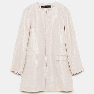 ZARA Linen frock coat SIZE M